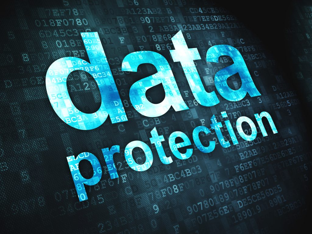 Data Protection on digital background