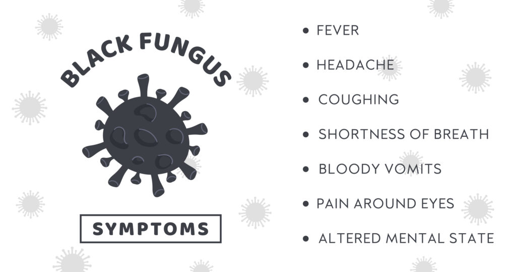 signs and symptoms of black fungi infection