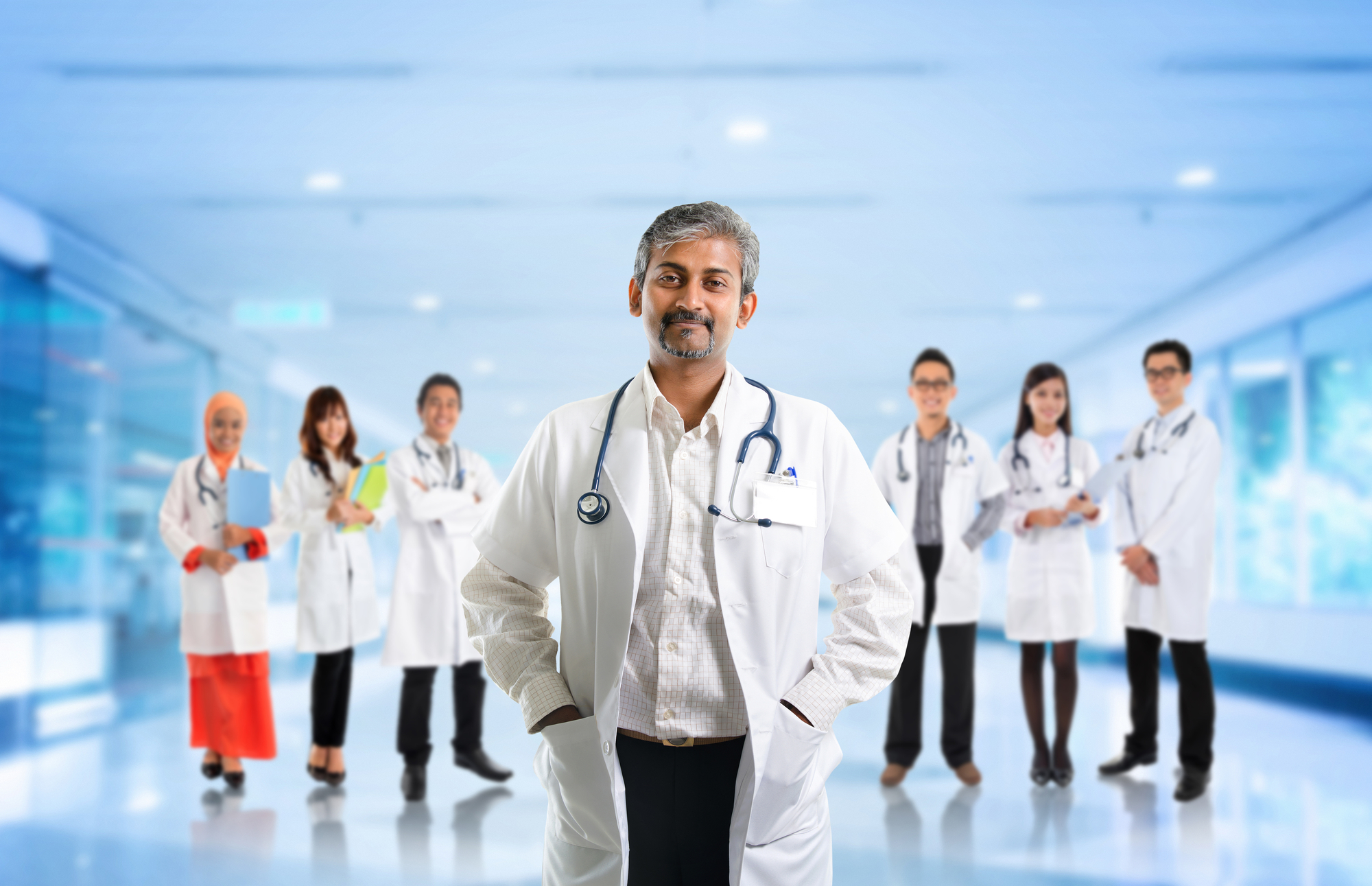 Team of Doctors with Leader